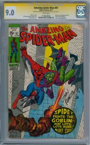 Amazing Spider-man #97 CGC 9.0  Signature Series Signed Stan Lee John Romita Sr Marvel comic book